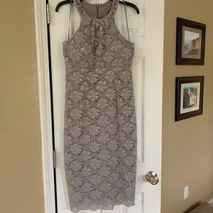 Sliver evening dress